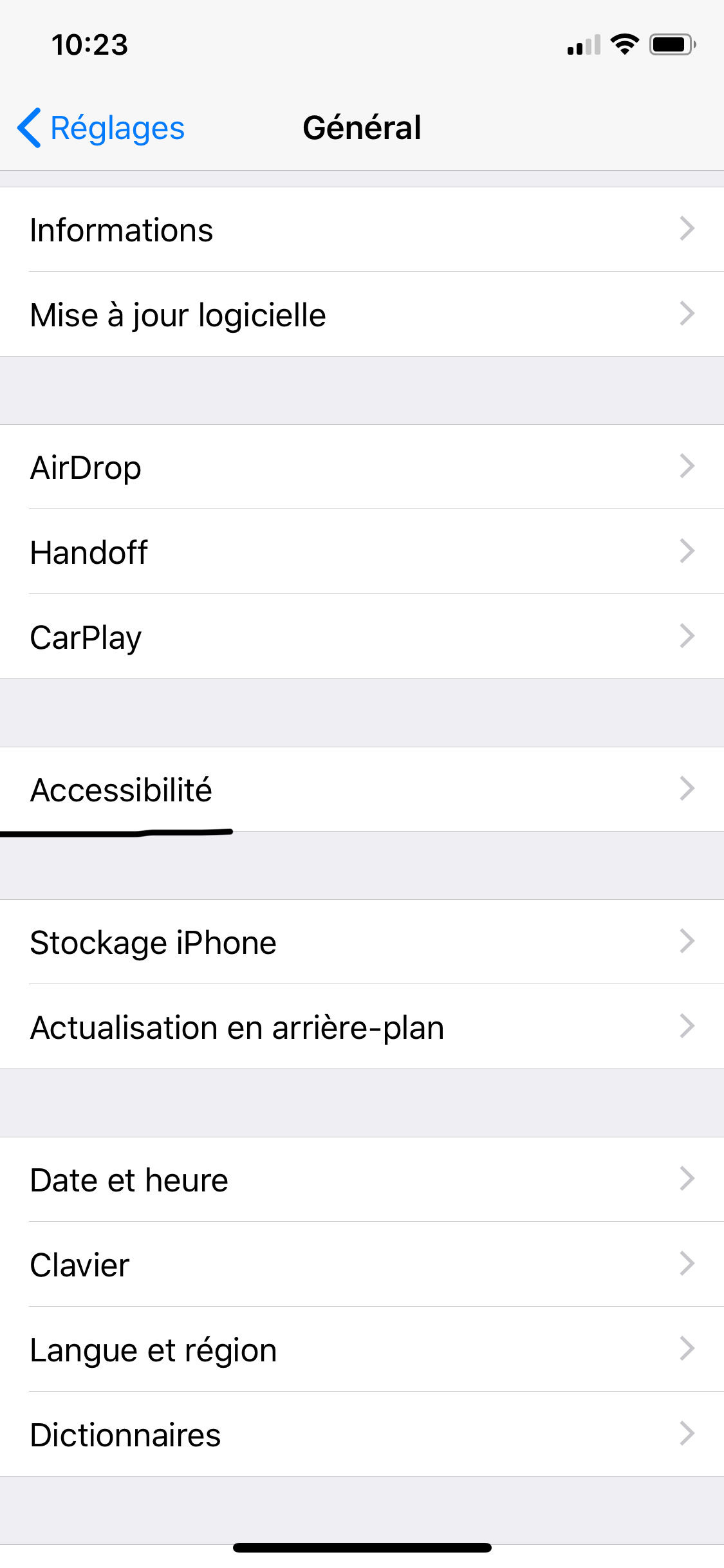 bloquer acces application iphone